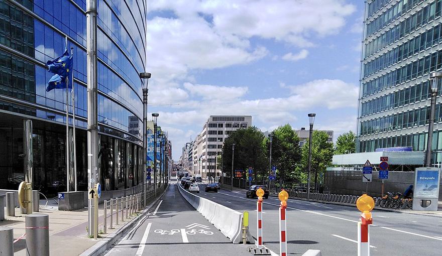 Emergency cycle lane, Brussels
