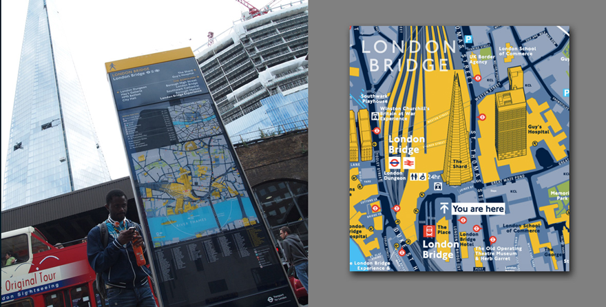 The Shard on Legible London maps