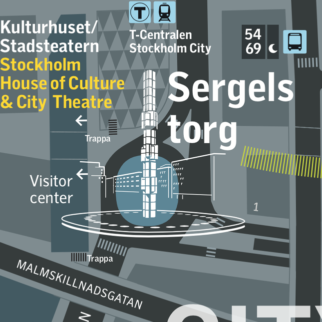 Squares and plazas - Stockholm SL Wayfinding