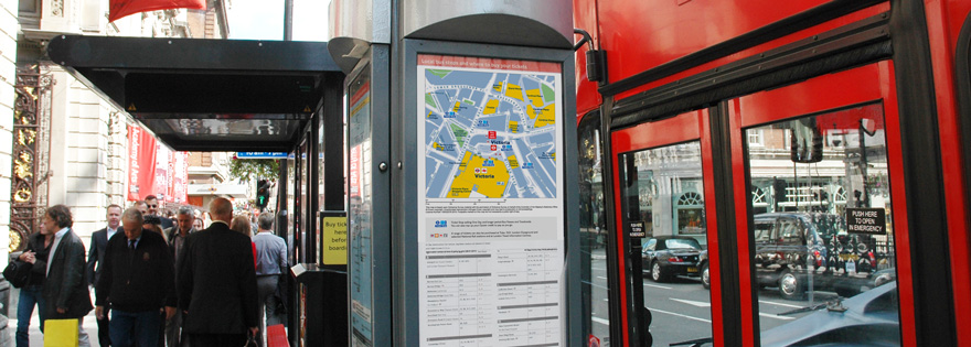 London bus maps automated by T-Kartor