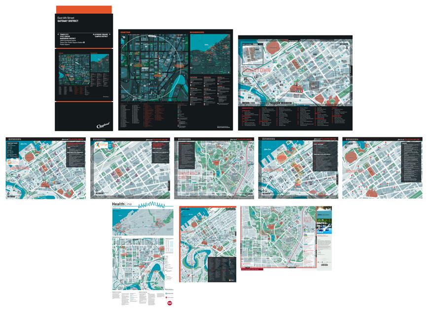 Seamless Cleveland wayfinding maps