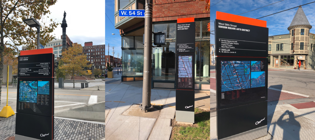 Seamless Cleveland city wayfinding signs