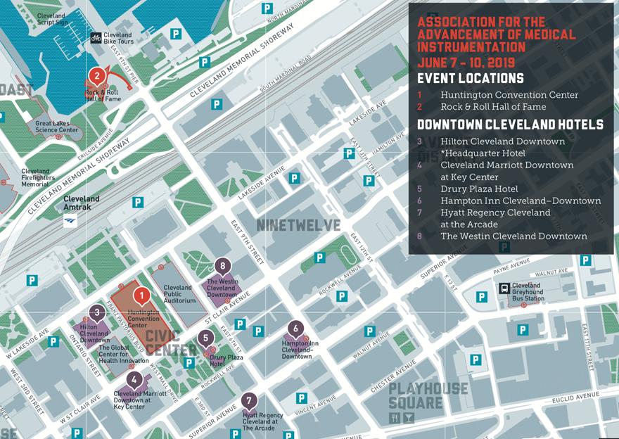 Huntington Convention Centre wayfinding map
